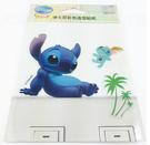 【收藏天地】迪士尼系列*裝飾貼紙-史迪奇與小金 開關貼 ∕  文創 送禮 卡通 可愛 裝飾 禮品