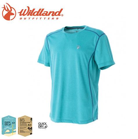丹大戶外【Wildland】荒野 男雙色圓領排汗抗UV上衣 0A51606-67 湖水綠