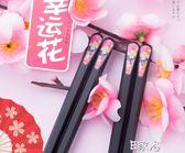 10雙日式尖頭筷子防滑合金筷筷子套裝筷子
