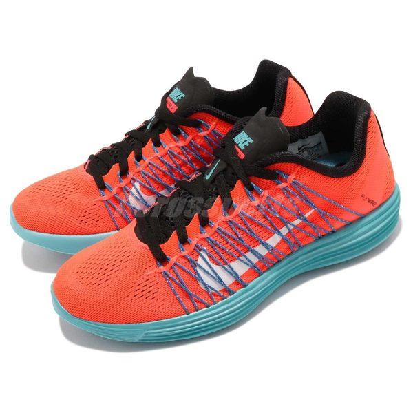【六折特賣】Nike 慢跑鞋 Lunaracer 3 橘紅 藍 白勾 路跑專用 女鞋 運動鞋【PUMP306】 554683-804
