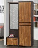 【森可家居】黑格比4尺屏風鞋櫃(全組) 8ZX697-3雙色 玄關櫃 隔間櫃