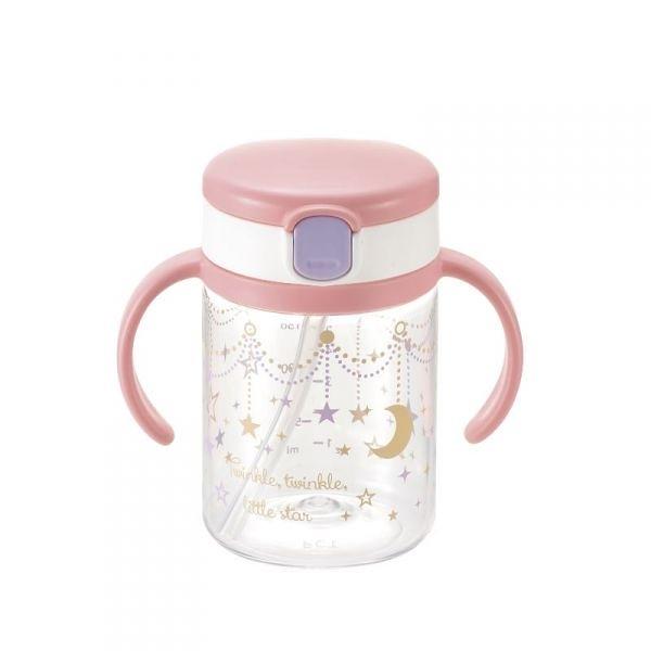 日本Richell利其爾第三代LC戶外喝水杯吸管學習杯200ml 星辰