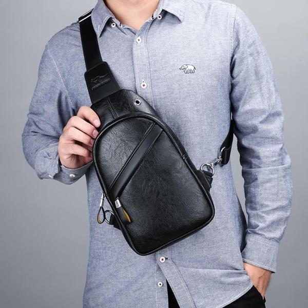 胸包男士包包休閒掛包小斜背包男單肩包男包男款胸前背包