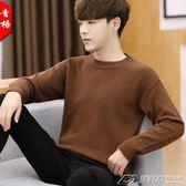 毛衣男韓版秋冬季潮流寬鬆加厚個性針織衫線衣男士新款打底衫  潮流前線