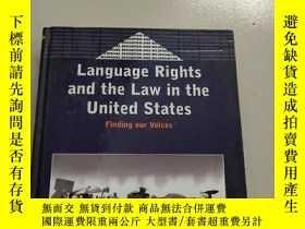 二手書博民逛書店Language罕見Rights and the Law in the United States語言權利和法律在