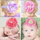 嬰兒髮飾 花朵髮帶 髮帶 髮飾 寶寶髮帶 嬰兒 彌月 花童 抓週 (花朵直徑約7~8CM) 橘魔法 現貨