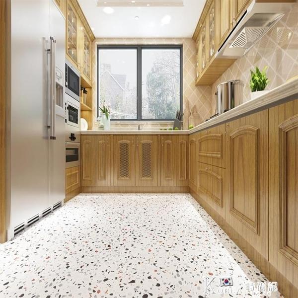 浴室衛生間地板貼加厚防滑耐磨防水地面貼紙廚房地貼PVC墻紙自粘 Korea時尚記