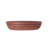 仿陶土圓盆底盤5吋磚紅