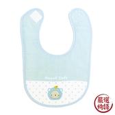 【日本製】【anano cafe】日本製 嬰幼兒寶寶圍兜兜 刺繡圖案 藍色 SD-2927 - 日本製