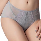 思薇爾-花蔓V型系列M-XXL蕾絲中腰三角內褲(飛揚灰)