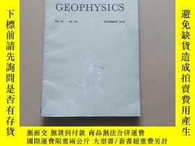 二手書博民逛書店GEOPHYSICS(VOI.41.NO.6A DECEMBER