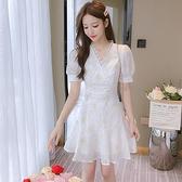 雪紡洋裝 甜美碎花雪紡連身裙女夏裝 2021年新款夏天小香風裙子夏季小個子仙女裙