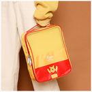 收納袋-迪士尼系列維尼旅行收納鞋袋-單1款-A09090182-天藍小舖
