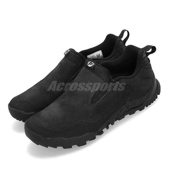 Merrell 戶外鞋 Annex Trak V Moc 黑 全黑 無鞋帶 運動鞋 男鞋【PUMP306】 ML16987