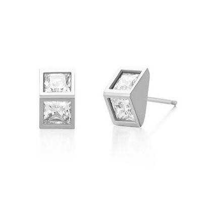 925純銀耳環(耳針式)-時尚氣質三角形生日聖誕節禮物女飾品3色73dr80[時尚巴黎]