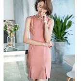 粉嫩氣質線條無袖優雅連身裙[20S116-PF]小三衣藏