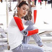 運動服-網眼透氣長袖衛衣T恤 健身訓練運動休閑上裝春新款女-韓先生
