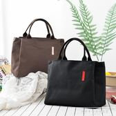 純色多功能保溫包媽咪包買菜包手拎袋飯盒包便當包大容量帆布手拎『韓女王』