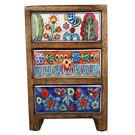 印度彩繪三層收納盒