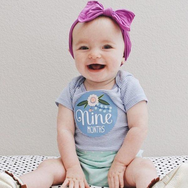 髮飾 髮箍 素色髮帶 Baby Bling 大蝴蝶結寬版寶寶素色髮帶 紫色系