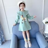 洋裝 女童連帽T恤裙春裝2020新款韓版網紅小女孩中長款公主裙子兒童洋裝 Korea時尚記