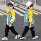 男童外套韓版外套 秋季中大童百搭夾克外套 拼色男童外套 男孩洋氣簡約男童外套 男童外套風衣
