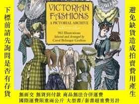 二手書博民逛書店Victorian罕見Fashions: A Pictorial Archive, 965 Illustratio
