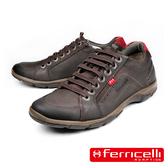 【ferricelli】薩爾托Azera經典牛皮減震休閒鞋  深咖啡(F42490-BRR)