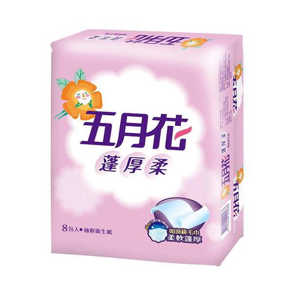 五月花蓬厚柔頂級抽取衛生紙100抽x8包 x6入團購組【康是美】