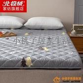 北極絨水洗印花床墊家用軟墊雙人1.8米加厚折疊1.5床學生宿舍褥子品牌【小桃子】