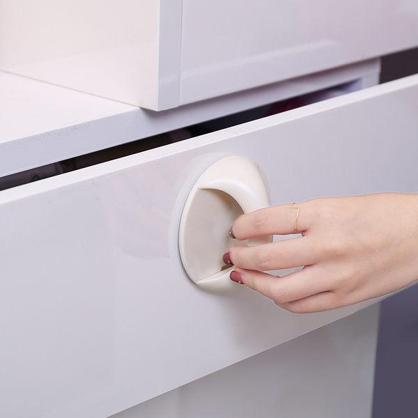 【門窗引手】黏貼式圓形拉門拉手 窗戶輔助拉手器 把手 浴室推門抽屜櫥櫃門手把