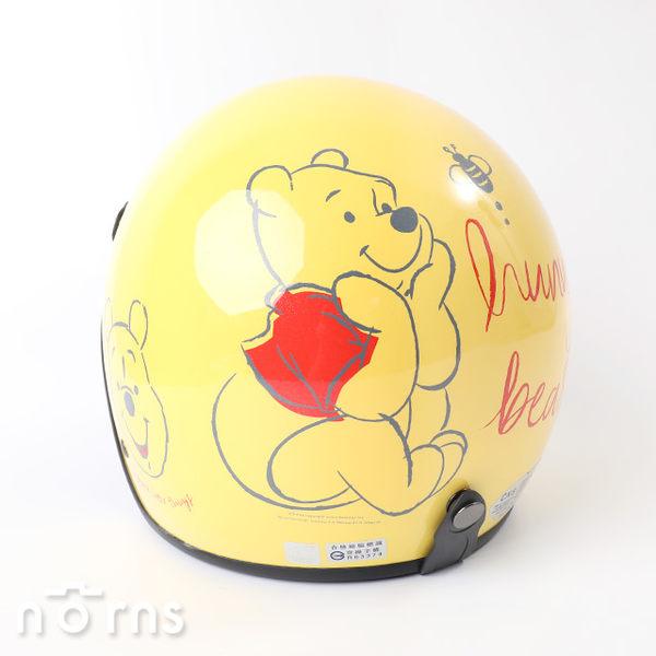 【小熊維尼3/4罩式安全帽】Norns台灣製 正版授權 機車 摩托車 復古