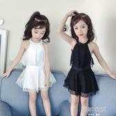 兒童泳衣女童游泳衣連身公主裙式小童女孩寶寶中大童學生親子泳裝  韓語空間