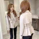 促銷 上衣女秋季新款韓版氣質翻領百搭短款寬松顯瘦長袖風衣外套潮