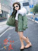 女童外套加厚秋冬季中大童韓版夾棉風衣洋氣上著【奈良優品】
