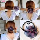 盤髮器 丸子頭花朵盤髮器造型器韓國頭飾百變蓬鬆花苞頭捲髮器懶人髮帶女 店慶降價