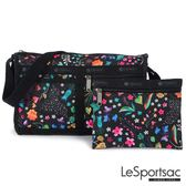 LeSportsac - Standard雙口袋斜背包-附化妝包(甜蜜花園) 7519P F024