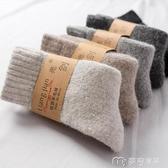滑雪襪旅游裝備冬羊毛襪男女加厚漠河雪鄉加絨中筒情侶毛圈襪 快速出貨