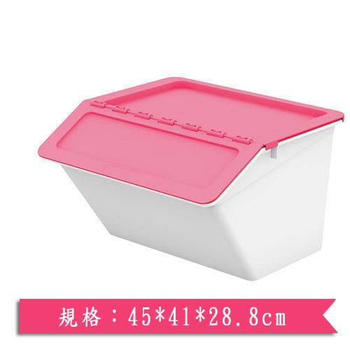 樹德SHUTER大嘴鳥整理箱MHB4541-時尚粉紅(45*41*28.8cm)【愛買】