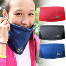 MIZUNO  限量Global Elite半截式保暖護頸套(共3色) 格紋布料 FLEECE棉質內裡