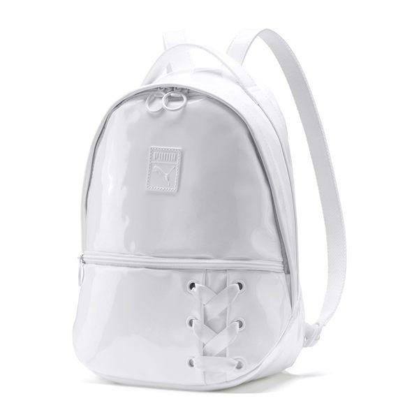 Puma 背包 白 後背包 漆皮 亮面 雙肩包 休閒 運動 拉鍊收納 旅行 大學包 休閒 07580702