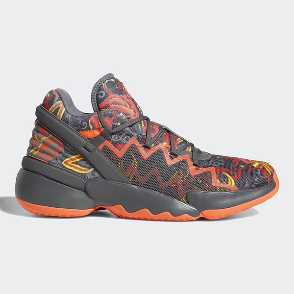 ADIDAS D.O.N. ISSUE #2 男鞋 籃球 米契爾 避震 透氣 灰 橘【運動世界】FX7432