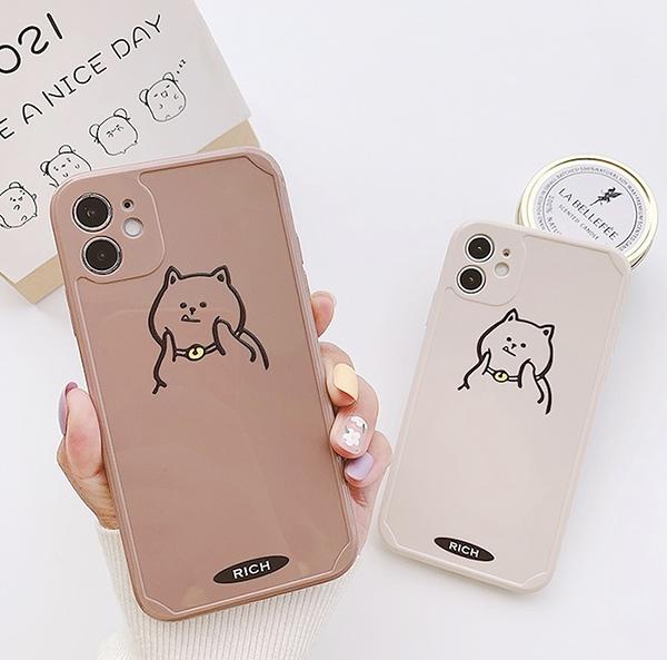 iPhone12 蘋果手機殼 預購 可掛繩 有錢招財貓 矽膠軟殼 i11/iX/i8/i7/SE