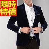 韓版 西裝外套 男西服 防風氣質-典型金絲絨美觀商務65b4[巴黎精品]