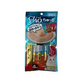 寵物家族-日本CIAO啾嚕燒肉泥-鮪魚+鮪魚片14g*4支入