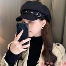 貝雷帽貝雷帽女韓版潮ins秋冬季英倫復古日系黑色蓓蕾畫家報童八角帽子 芊墨左岸