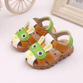 2018夏季兒童閃燈寶寶包頭男童女孩嬰兒小孩子1學步2涼鞋0到3歲半【奇貨居】