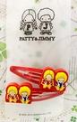 【震撼精品百貨】彼得&吉米Patty & Jimmy~三麗鷗 彼得&吉米造型髮夾兩入-紅*31909