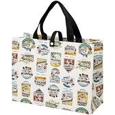 小禮堂 迪士尼 米奇 防水購物袋 (米海報款) 4973307-49191