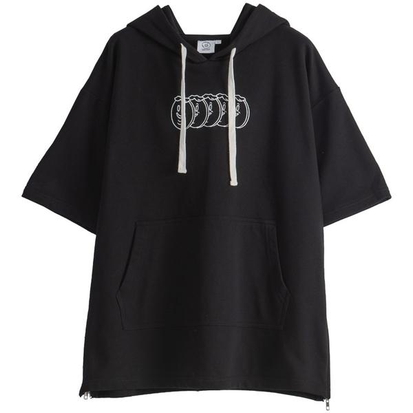 Queen Shop【01096978】中分哥 古伯五胞胎趣味刺繡連帽上衣 1/2*現+預*